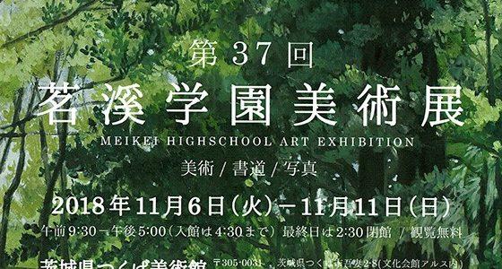 第37回茗溪学園美術展(2018年11月6日~11月11日)に出品しました